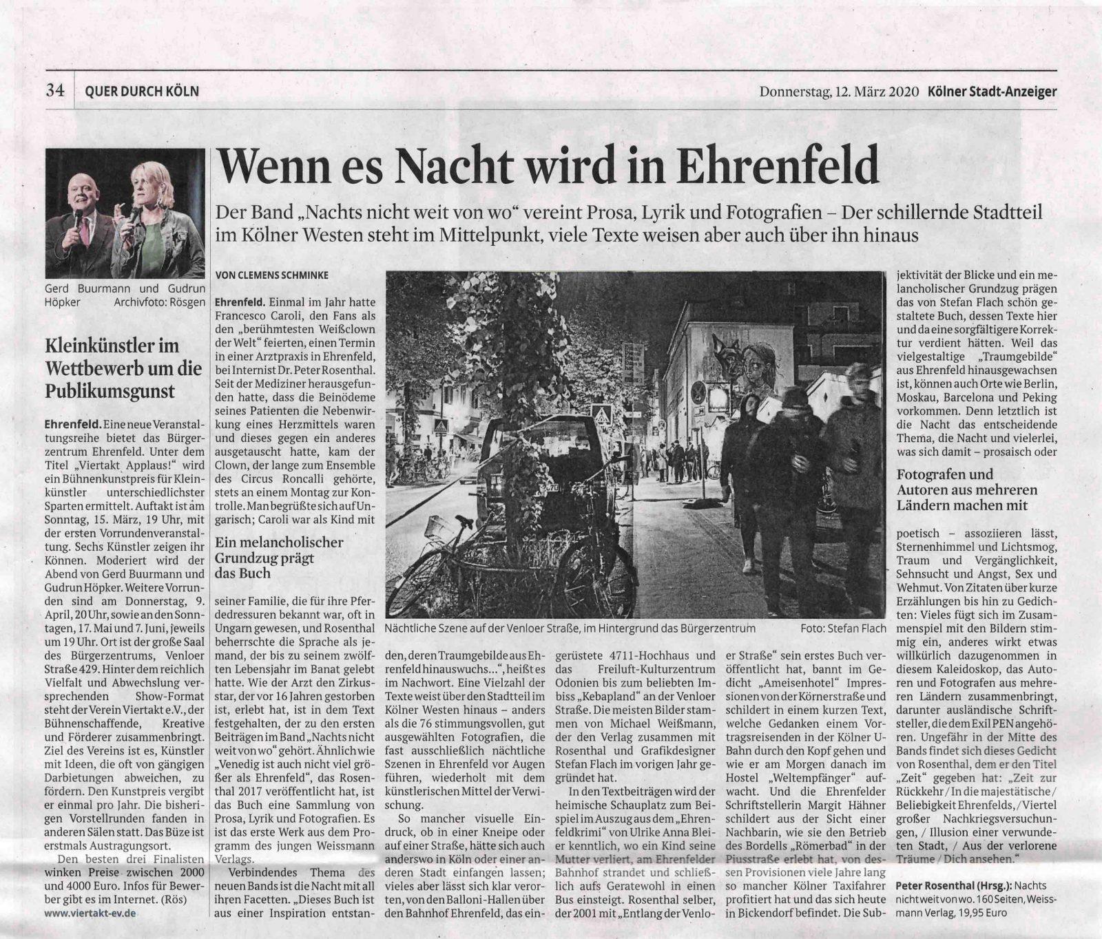 Artikel im Kölner Stadtanzeiger